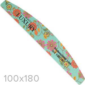 Luxury Пилочка для ногтей минерал. BM-19 сегмент цветная 100х180