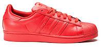 Женские кроссовки Adidas Superstar Pharrell Williams красного цвета, фото 1