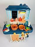 Детская Кухня 7426 течет вода, эффект пара, Синий, фото 3