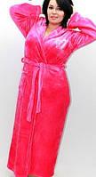 Махровый банный женский халат, длинный. Материал Velsoft-махра. Опт, розница. Украина.