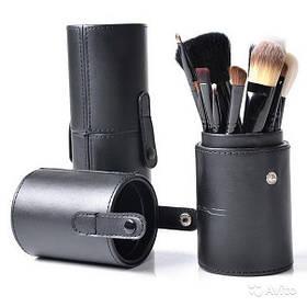 Професійний набір кистей в 12 штук тубусі MaS Cosmetics кисті пензлика репліка