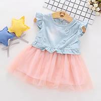 Платье для девочки розовый низ 2987