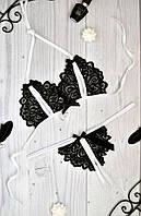 Эротическое кружевное белье стринги и лиф с вырезами. Размеры от XS до XXL