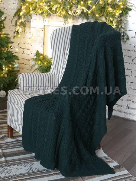 Плед в'язаний 130x170 BETIRES BLOOM GREEN (100% бавовна) зелений