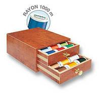 8111 Rayon маленькая шкатулка 1000м(30xRayon 1000м,1x цветовая карта Rayon)
