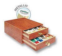 8112 Metallic40 маленькая шкатулка(42x Metallic 200м,2xBobbinfil 500м,1xцветовая карта Metallic )