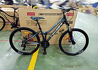 """Велосипед для подростков Crosser Levin 24"""" Черно-синий"""