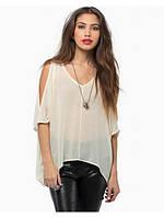 Блуза ассиметричная с прорезями на рукавах