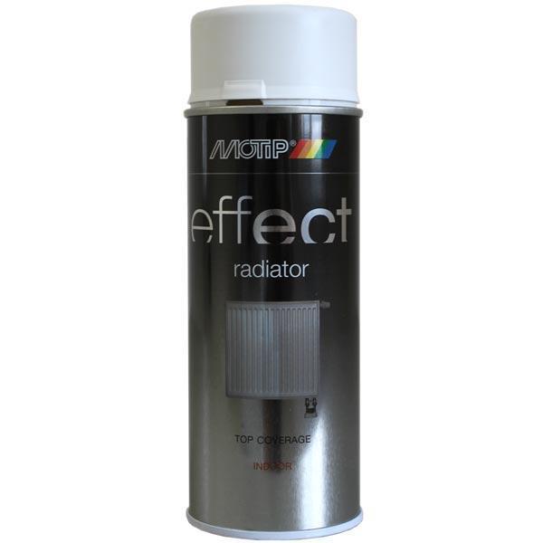 Эмаль для бытовых радиаторов  Motip Deco Effect, 400 мл Аэрозоль Белая матовая