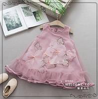 Платье Цветы розовое 3193