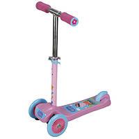 Скутер детский лицензионный Peppa 3-х колесный 2 колеса впереди