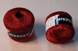 """Пряжа """"Mondial Scintilla"""",цвет - красный"""