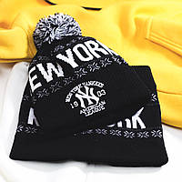 Шапка + баф / зимний комплект мужской New York до -30*С X-black