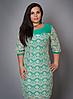Платье с кружевом в большом размере
