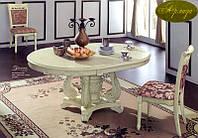 Стол обеденный   расскладной Р-581200*1200*770+400 белый