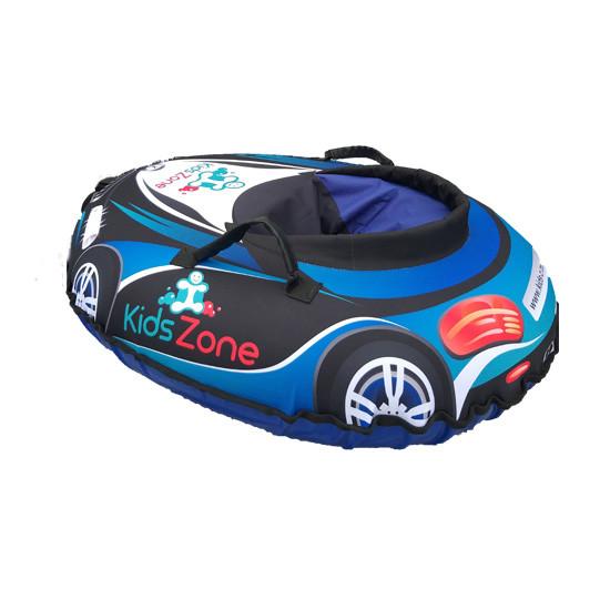"""Тюбинг """"RacingСars"""" автомобить машинка для детей Надувные Санки Ватрушка из ПВХ синяя"""