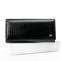 Женский кожаный лаковый кошелек SERGIO TORRETTI (W1-V черный)