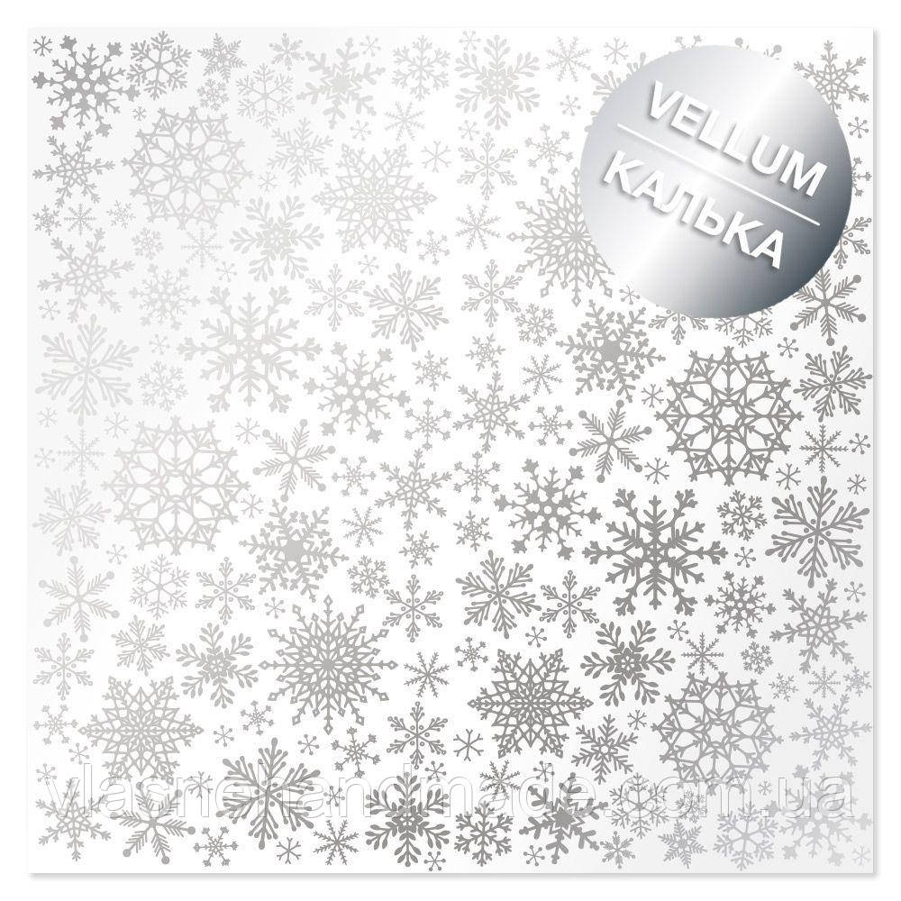 Калька - Silver Snowflakes - Fabrika Decoru - 30x30