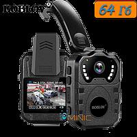 Нагрудный видеорегистратор BOBLOV WN10 1080p 64 Гб с мощным акумулятором и большим функционалом