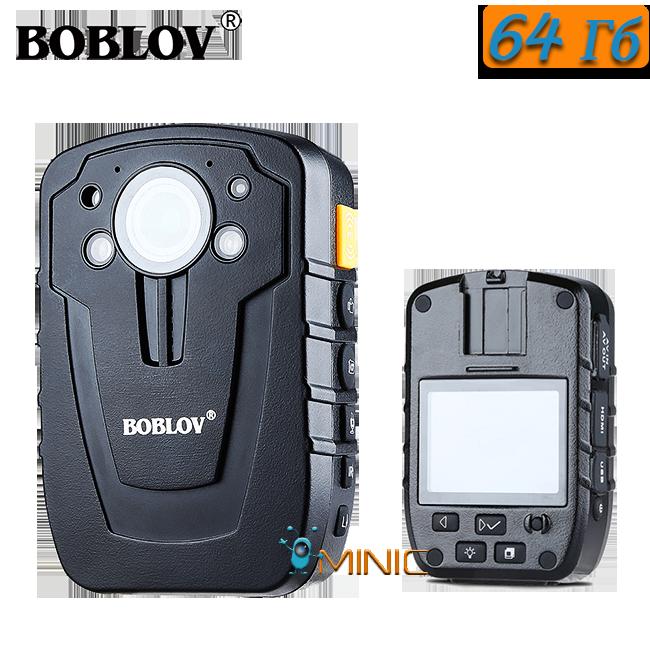Нагрудный видеорегистра BOBLOV HD31-D (D900) 64ГБ IP66 с мощным аккумулятором и большим функционалом