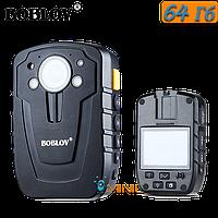 Нагрудный видеорегистра BOBLOV HD31-D (D900) 64ГБ IP66 с мощным аккумулятором и большим функционалом, фото 1
