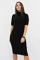 S, M, L | Теплое черное ангоровое платье Florida