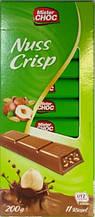 Шоколад в стиках Mister Choc Nuss Crisp 200 g