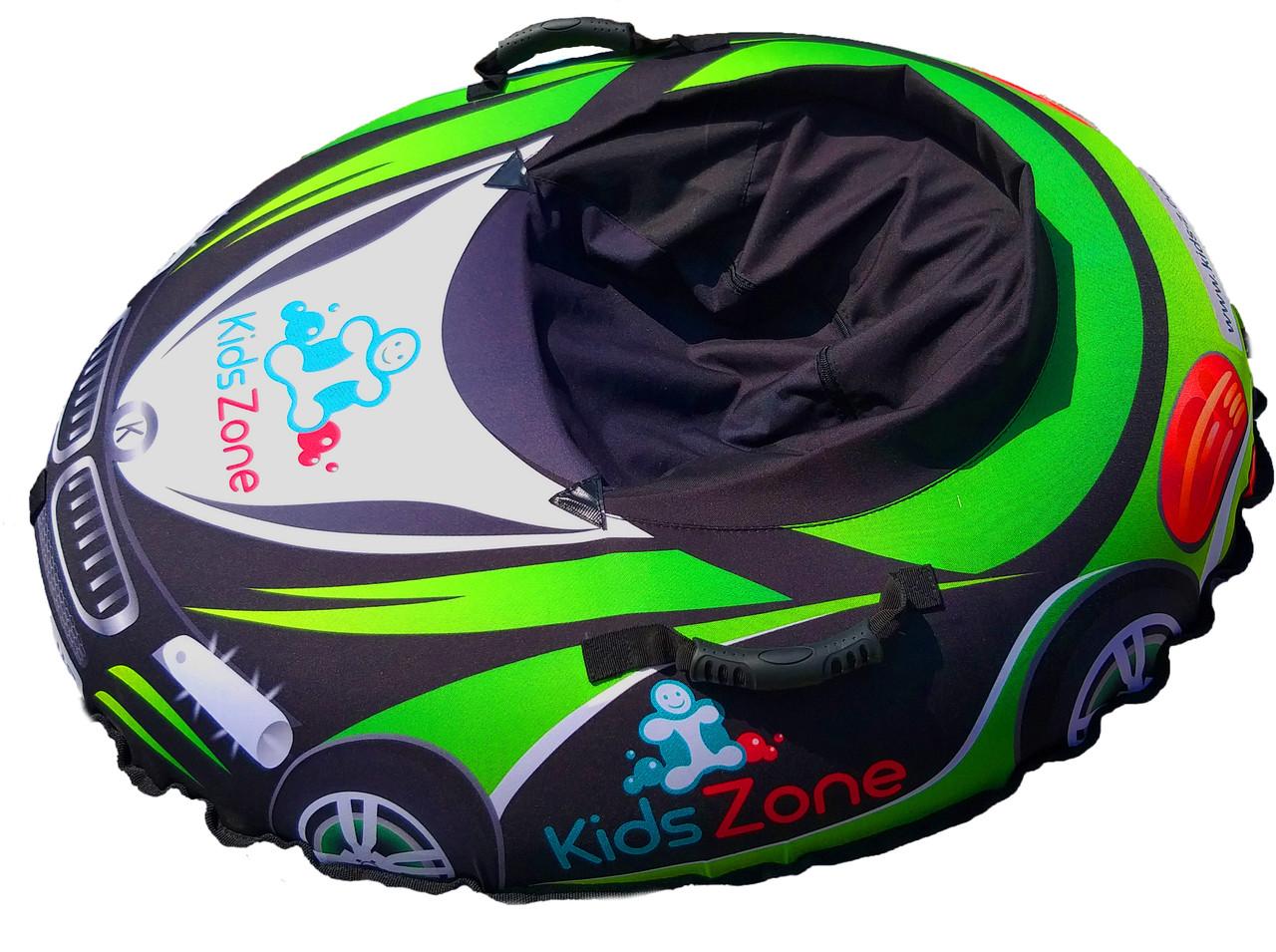 """Тюбинг """"RacingСars"""" автомобить машинка для детей Надувные Санки Ватрушка из ПВХ салатовая"""