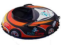 """Тюбинг """"RacingСars"""" автомобить машинка для детей Надувные Санки Ватрушка из ПВХ оранжевая"""