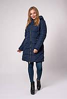 Темно-синяя зимняя куртка для женщин 42,44,46,48