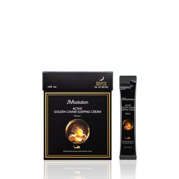 Ночной крем с экстрактом икры и золотом jm solution active golden caviar sleeping cream