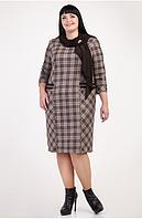 Оригинальное платье украшено платком из замши