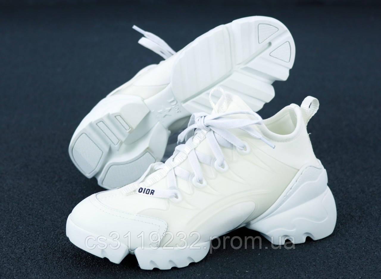 Жіночі кросівки Dior D-Connect Triple White (білі)