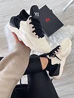 Мужские кроссовки Adidas Y-3 Kaiwa Black White Sole