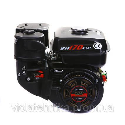 Двигатель бензиновый Weima WM170F-L (R) NEW с редуктором (шпонка, вал 20 мм, 1800 об/мин, бак 5 л, 7.5 л.с), фото 2