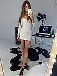 Женское платье люрекс с драпировкой (в расцветках), фото 2