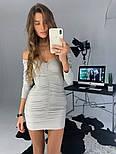 Женское платье люрекс с драпировкой (в расцветках), фото 3