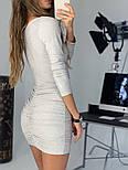 Женское платье люрекс с драпировкой (в расцветках), фото 4