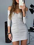 Женское платье люрекс с драпировкой (в расцветках), фото 5