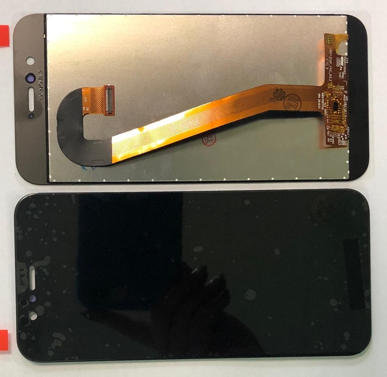 Дисплей для Huawei Nova 2 (PIC-L29) модуль в сборе с тачскрином, черный, original