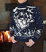Молодёжный вязаный свитер c оленями  на 170-176 роста Марсал, фото 3