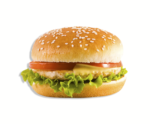 Чизбургер с котлетой из куриного филе