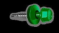 Кровельный саморез по металлу 4.8х19мм RAL 6002 (250шт)