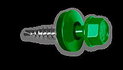 Саморез 4.8х19 зеленый [металл] 250шт