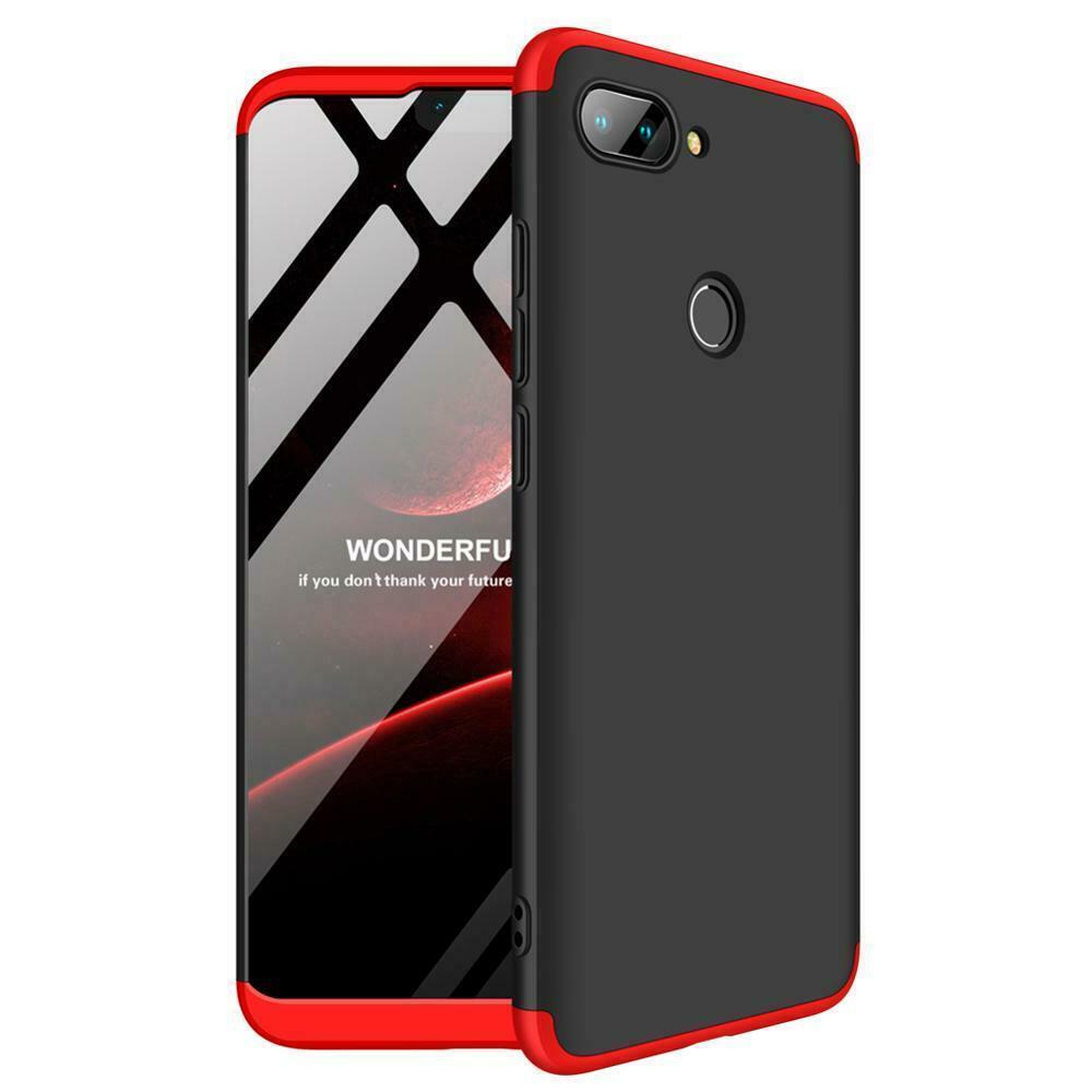 Чехол GKK 360 градусов для Xiaomi Mi8 SE черно-красный