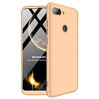 Чехол GKK 360 градусов для Xiaomi Mi8 SE золото