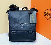 Кожаная мужская сумка Giorgio Armani Армани черная 5
