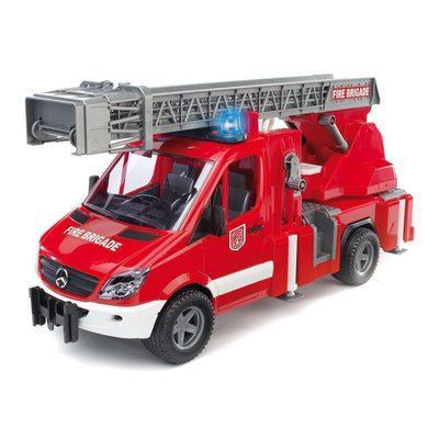 Игрушка - машинка Bruder  пожарная машина МВ Sprinter с лестницей (+водяная помпа+свет и звук)-М1:16-02532