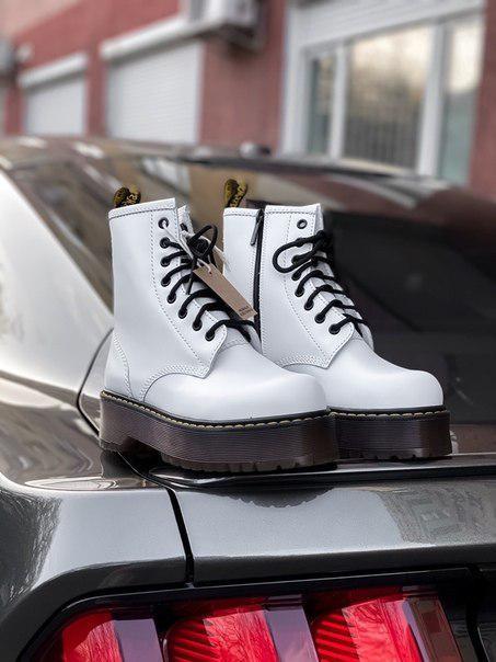 Ботинки женские Dr. Martens Jadon White Brown sole