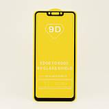 Захисне скло 9D Huawei P Smart Plus/ Nova 3i (Black) (Чорне) ПОВНА ПРОКЛЕЙКА, фото 4